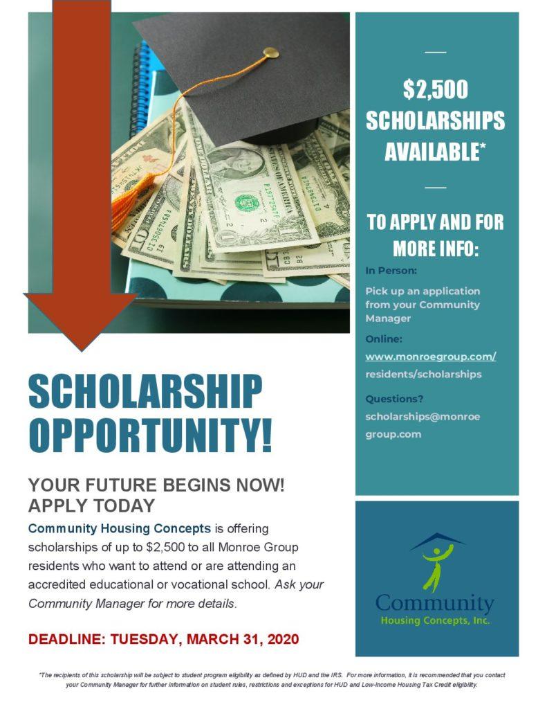 Chc Scholarship Flyer